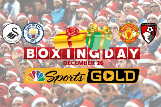 NBC Sports Gold's full EPL holiday schedule