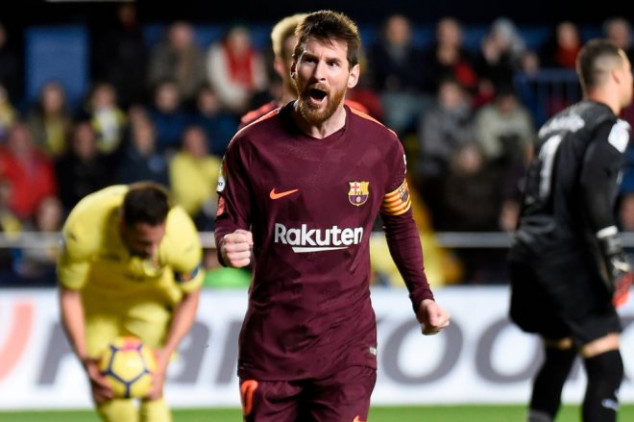 Messi reaches record with goal vs Villarreal