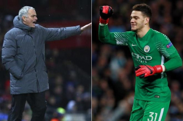 Mourinho and Ederson involved in heated argument