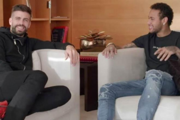 Pique and Neymar go one-on-one in interview