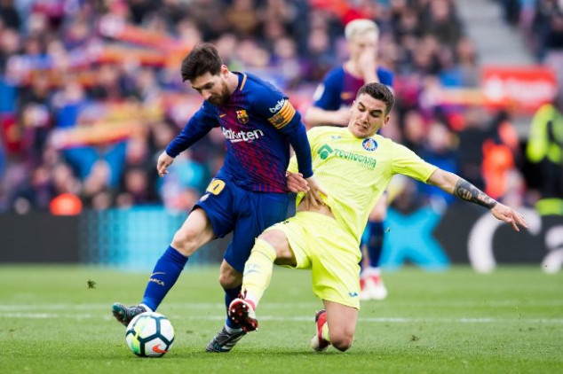 Getafe holds Barca in Messi's 300th Camp Nou game