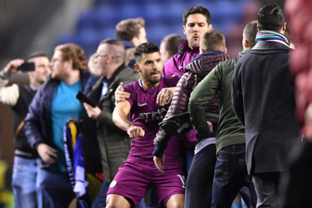 Details behind Aguero's clash with Wigan fan