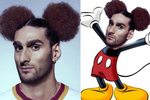 Trolled: Fellaini gets Mikey  Mouse hairdo