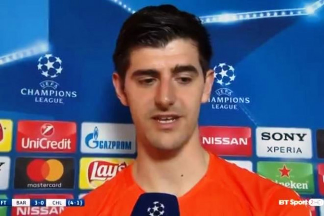 Courtois laughs off conceding two nutmeg goals