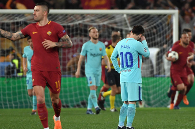 Messi livid with one team-mate during Roma loss