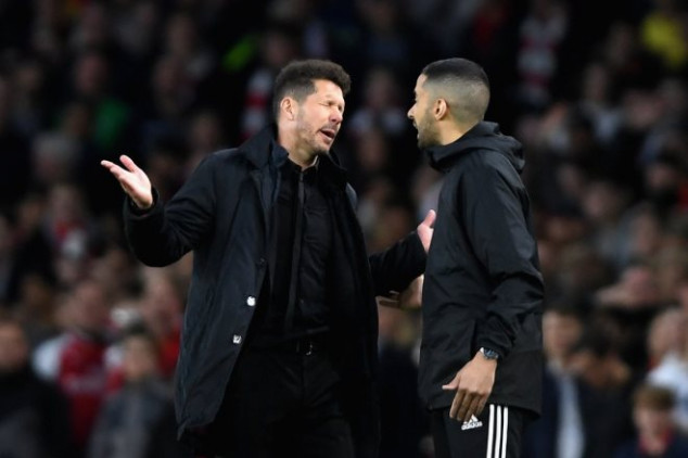 Simeone laughed at by Arsenal fans