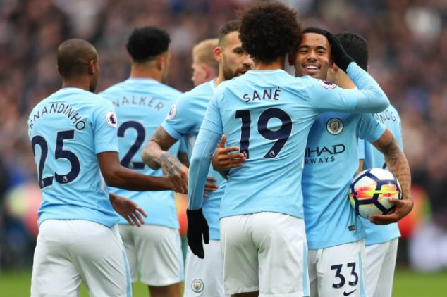 Man City equals EPL record with goals vs West Ham