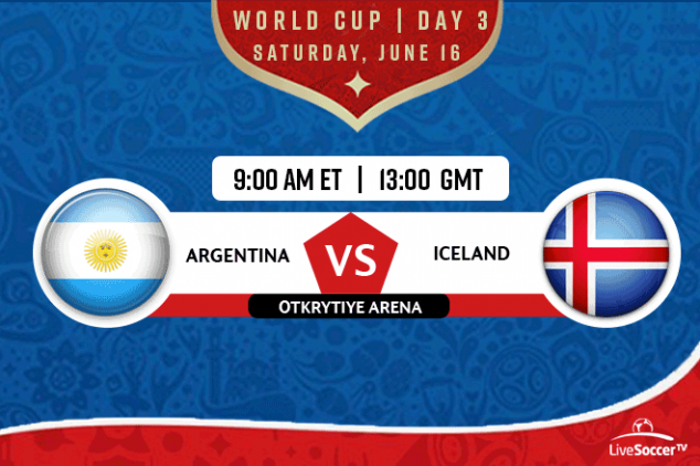 Argentina vs Iceland viewing info