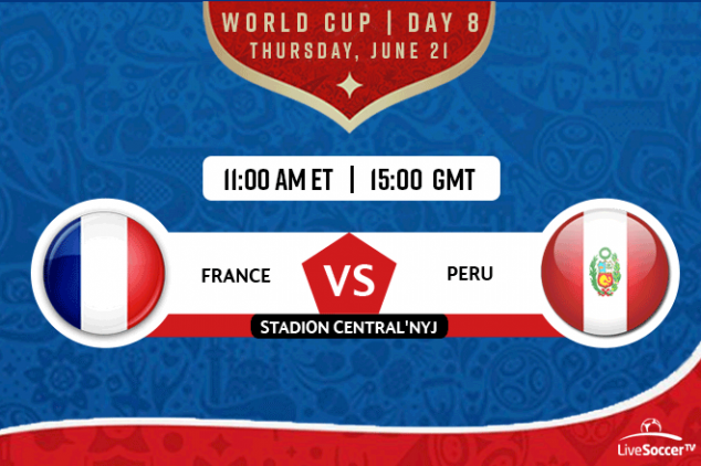 France vs Peru viewing info