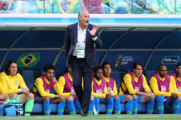Tite suffers hilarious fall during celebration