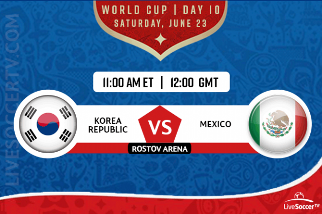 South Korea vs Mexico broadcast info