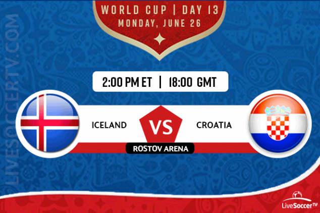Where to watch Iceland vs Croatia on June 26