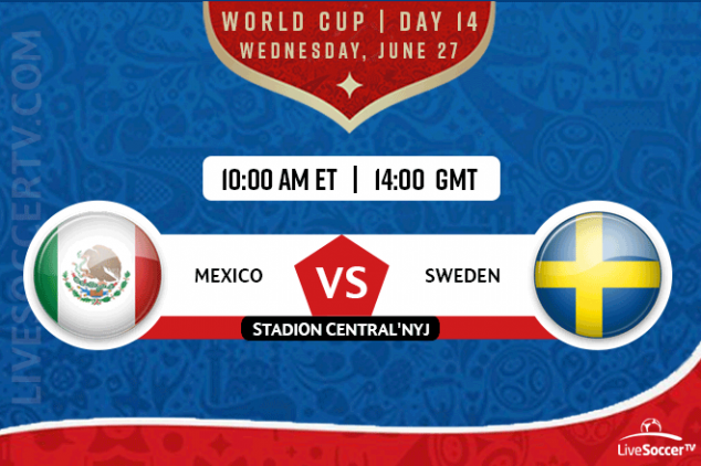 Mexico vs Sweden broadcast info