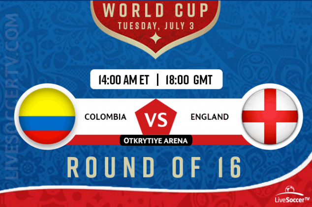 How to watch Colombia vs England live on July 3