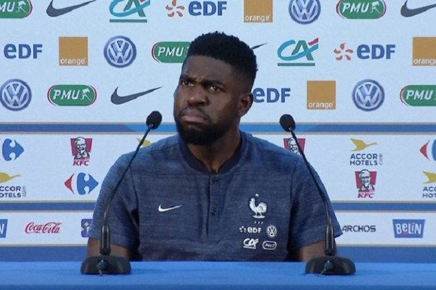 Samuel Umtiti 'walks out' of press conference