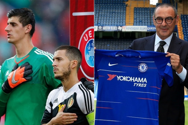 Sarri hints possible exit by Courtois and Hazard