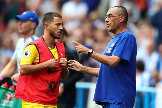 Sarri highlights how Hazard can be the world best