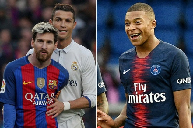 Mbappé's numbers surpass those of Messi and CR7
