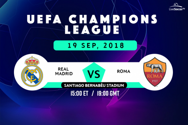 Real Madrid vs Roma viewing info