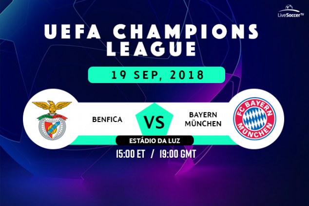 Benfica vs Bayern viewing info