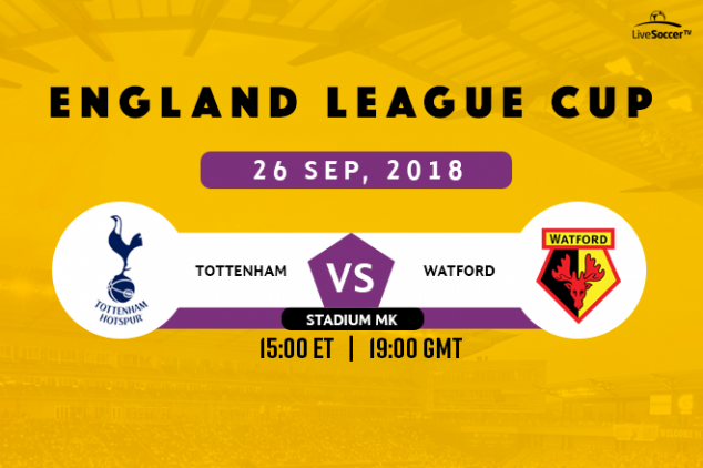 Where to watch Tottenham vs Watford on Sept 26