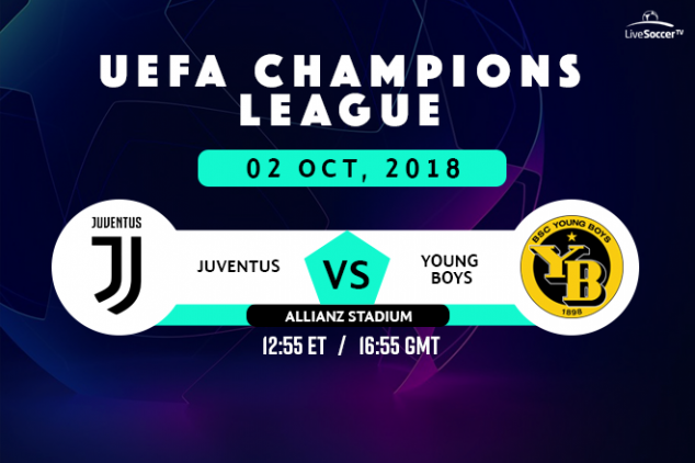 Juventus vs Young Boys viewing info
