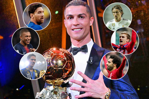 Ballon d'Or 2018 nominees revealed