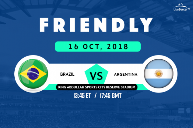 Where to watch Brazil vs Argentina Live Streaming