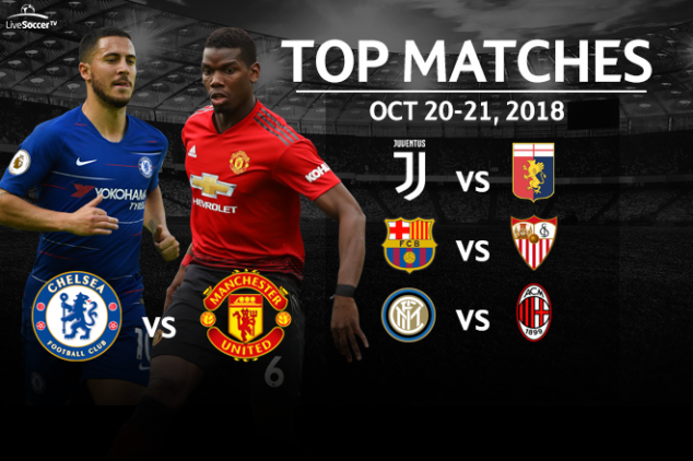 Top 5 soccer matches to watch on Oct. 20-21, 2018