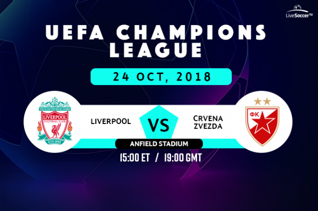 Liverpool vs Red Star viewing info