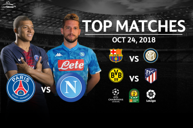 Top matches to watch on Oct 24, 2018