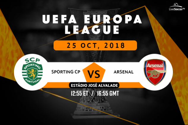 Where to watch Sporting vs Arsenal on Oct 25, 2018