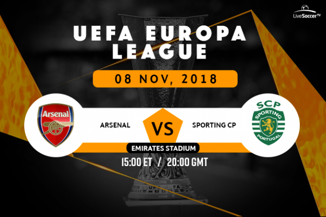 How to watch Arsenal vs Sporting on Nov 8, 2018
