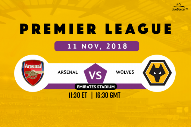 How to watch Arsenal vs Wolves on Nov 11, 2018