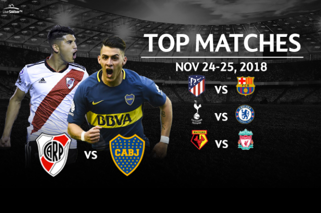 Top 8 matches on TV for this weekend