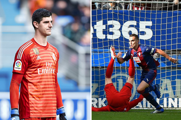 Courtois trolled after 3-0 Eibar defeat