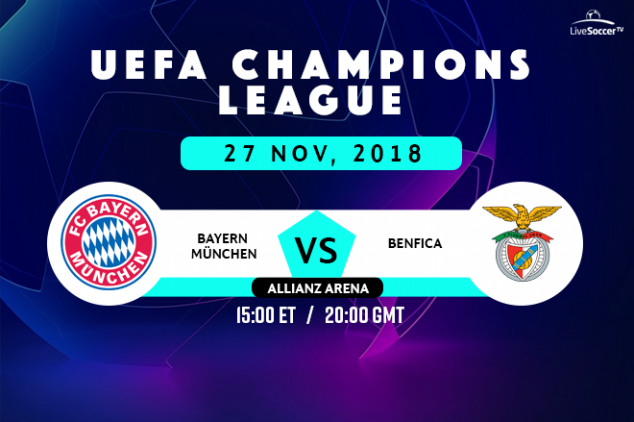 Bayern vs Benfica viewing info