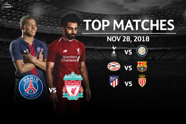Top matches to watch on Nov. 28, 2018