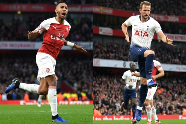 Aubameyang and Kane make history in derby