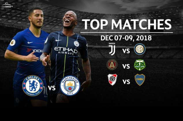 Top matches to stream on December 7-9, 2018