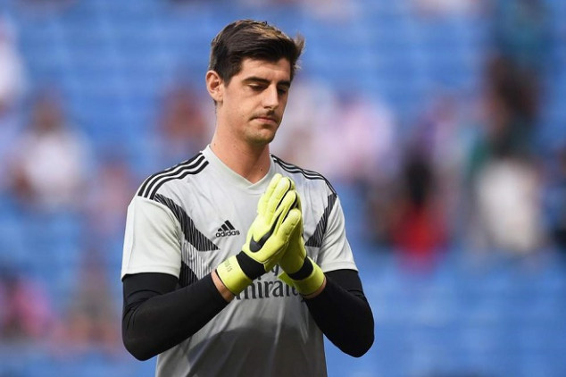 Courtois comes down with muscular injury