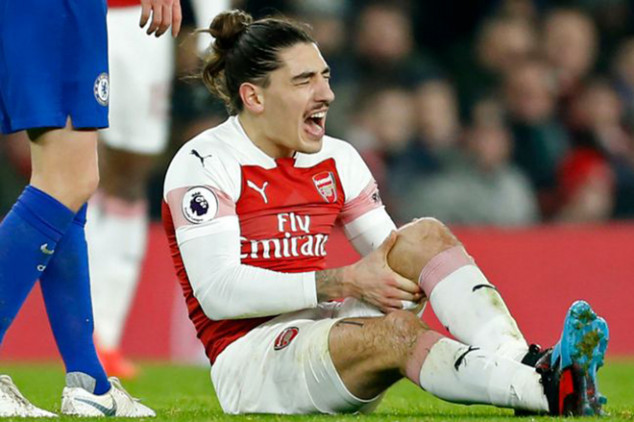 Bellerin ruled out for the rest of the season