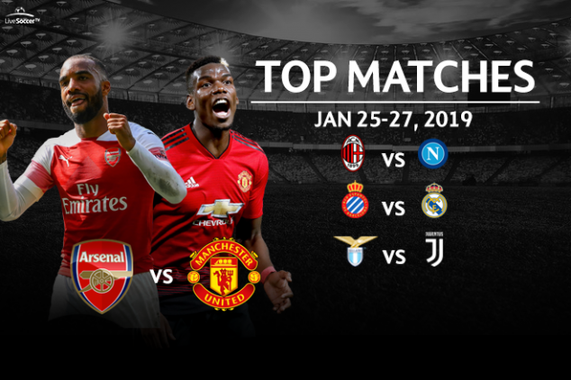 Top matches to watch on Jan. 25-27, 2019