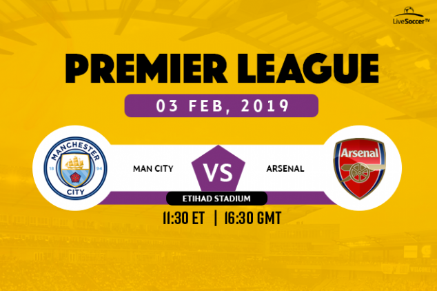 Where to watch Man City vs Arsenal