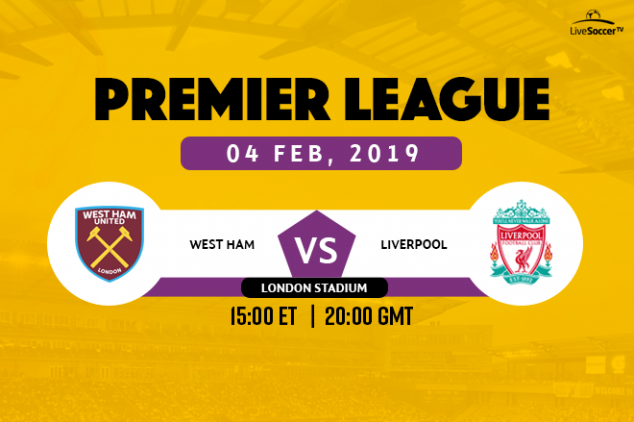 Where to watch West Ham vs Liverpool