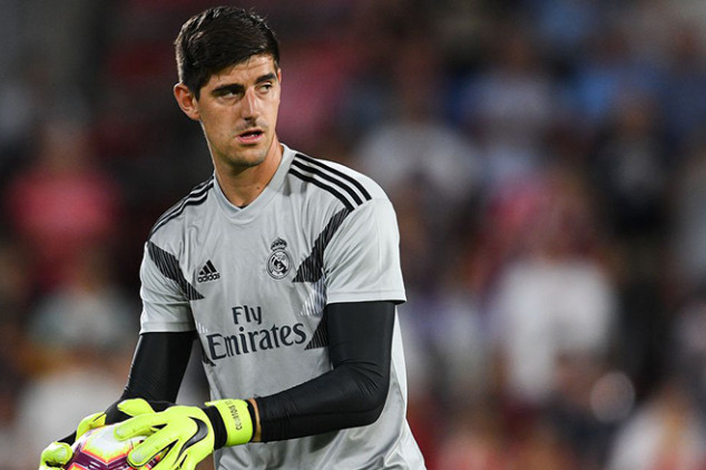 Courtois' plaque vandalized on Madrid Derby