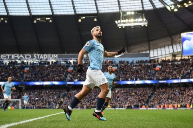 Aguero equals Alan Shearer's EPL goal record