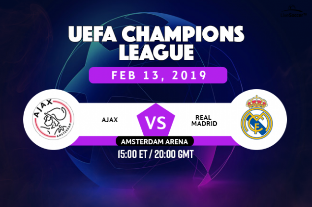 UCL - Ajax vs Real Madrid broadcast info