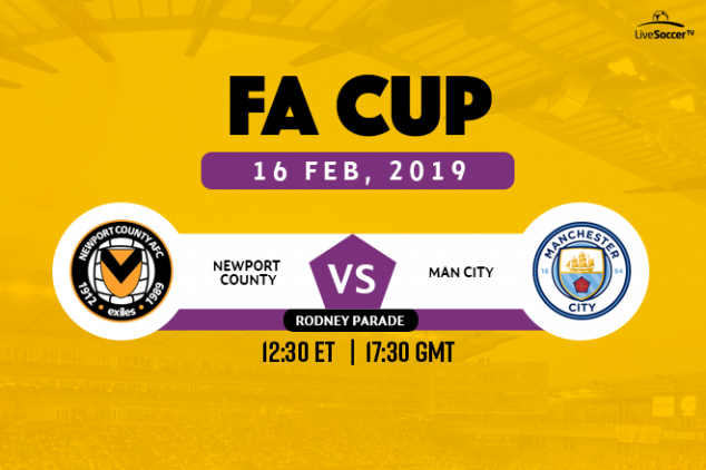 Newport vs Manchester City broadcast listings