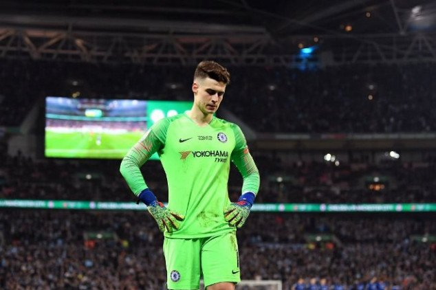 Chelsea fall in cup final after Kepa refuses sub